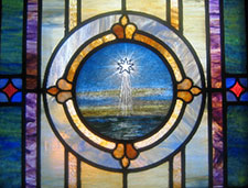 Star in stained glass