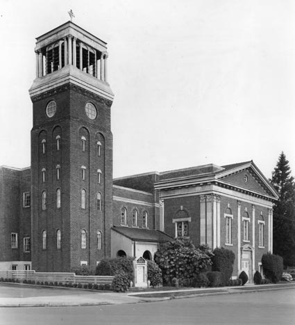 Historical photo of Rose City Park Presbyterian Church in Northeast Portland, Oregon.